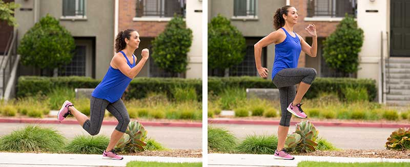 Single-leg Squat to Knee Drive
