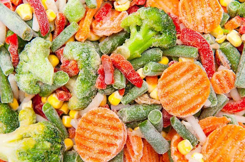 Swap fresh veggies for frozen ones