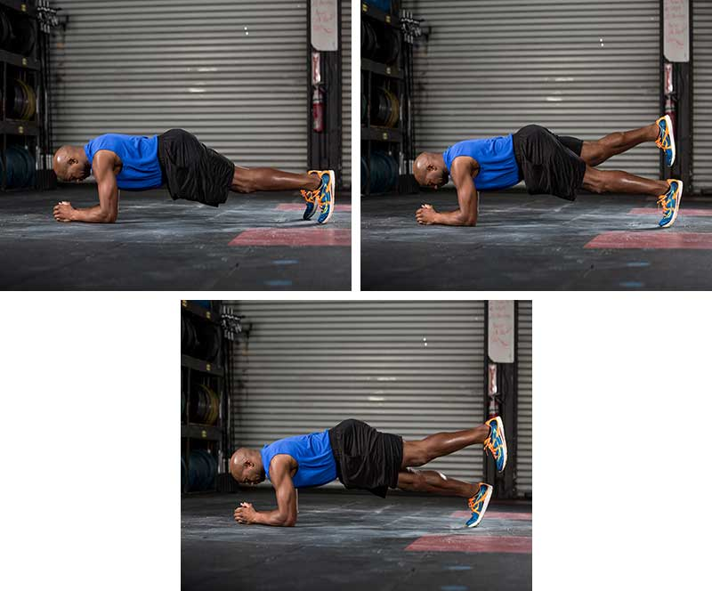 tripod plank with leg switch