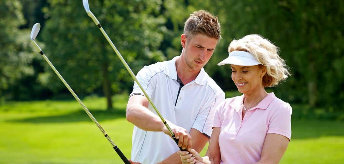 take golf lessons