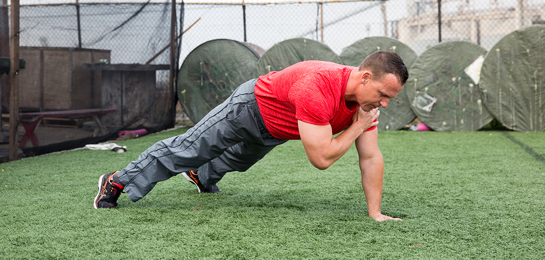 Upper-body and Core Outdoor Circuit Workout