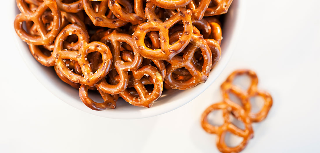 pretzels aren't good for staying slim
