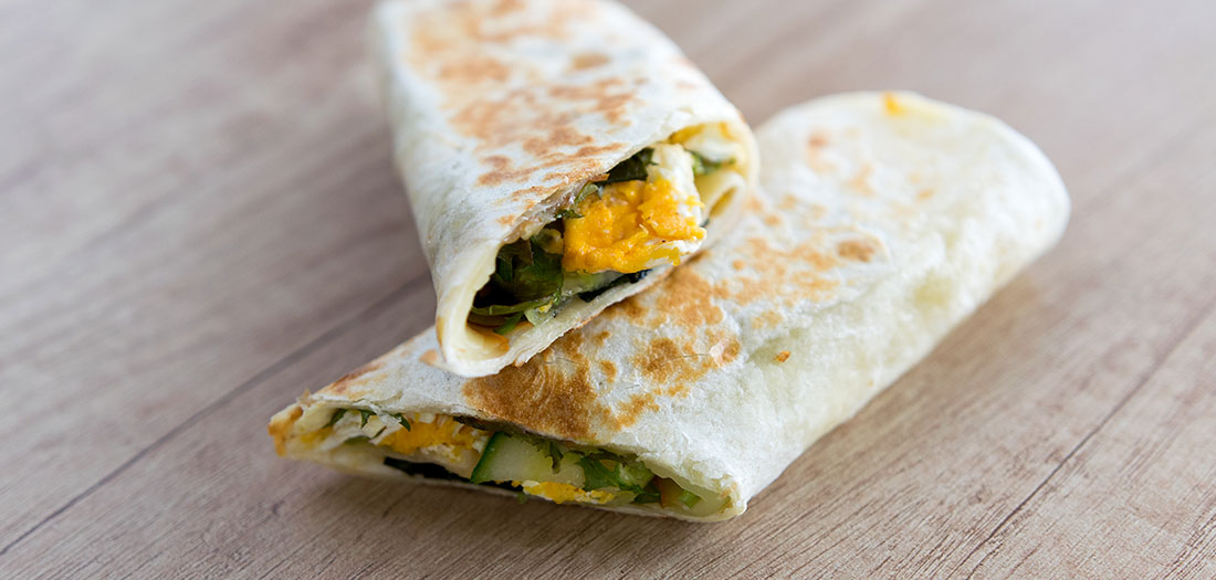 healthy veggie breakfast burrito