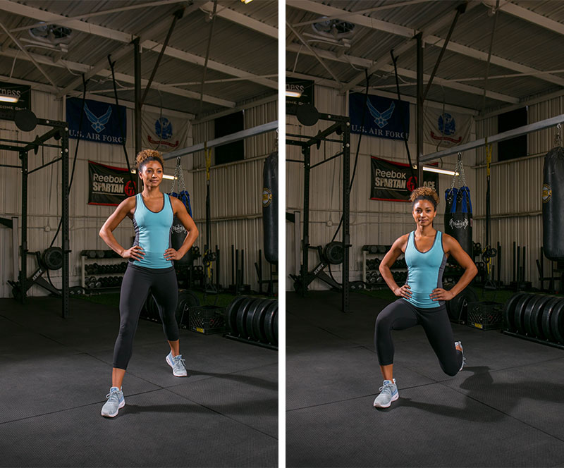 diagonal-lunge-variation