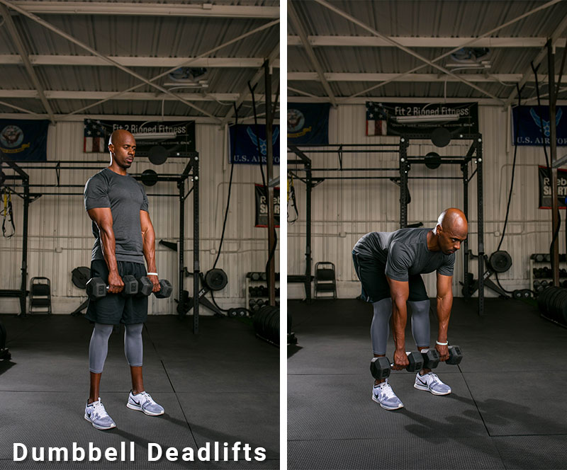 dumb bell deadlifts