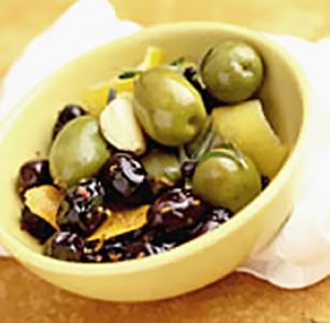 Rosemary-Lemon Marinated Olives