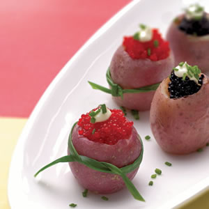 Caviar-Stuffed New Potatoes