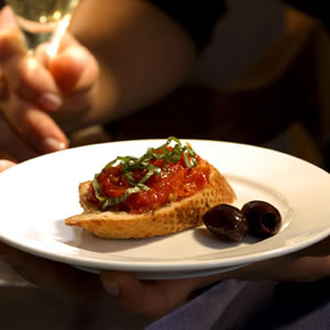 Slow-Roasted Cherry Tomato Bruschetta