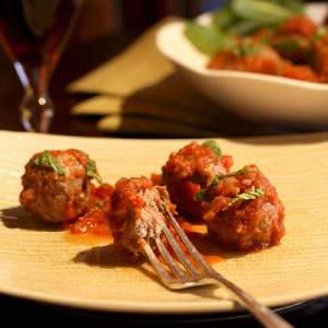 Spicy Lamb Meatballs in Tomato Sauce