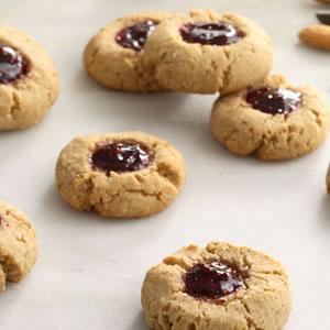 Raspberry-Chocolate Thumbprint Cookies