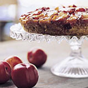 Plum-Almond Upside-Down Cake