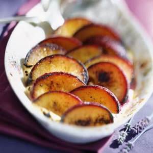 Honey-Lavender Plum Gratin