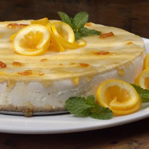 Marmalade-Glazed Orange Cheesecake