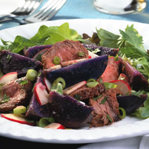 Steak & Purple-Potato Salad