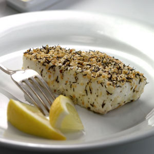 Thyme- & Sesame-Crusted Pacific Halibut