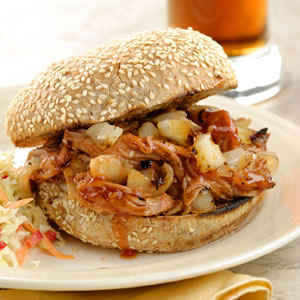 Barbecued Pork Sandwiches