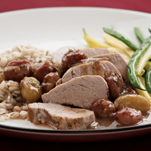 Pork Tenderloin with Roasted Grape Sauce