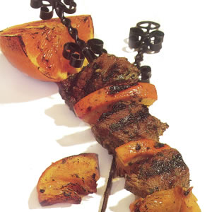 North African Orange & Lamb Kebabs