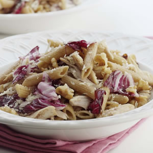 Penne with Roasted Chicken & Radicchio
