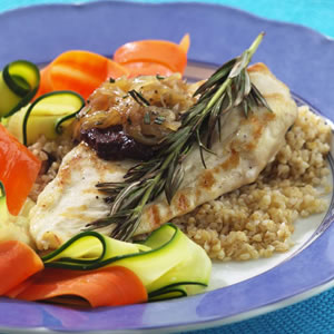 Grilled Rosemary-Scented Chicken