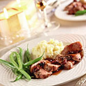 Duck Breasts with Port & Dried Cherry Sauce