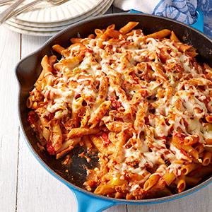 Sausage & Peppers Baked Ziti
