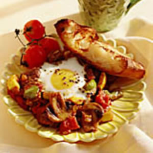 Curried Vegetables with Eggs