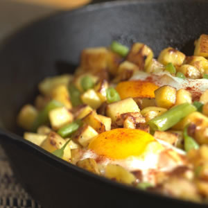 Crispy Potatoes with Green Beans & Eggs