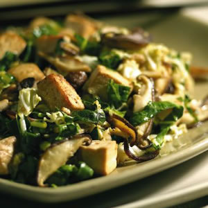 Asian Slaw with Tofu & Shiitake Mushrooms
