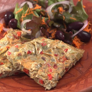 Artichoke & Red Pepper Frittata