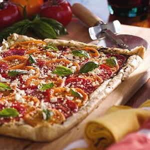 Tomato Phyllo Tart