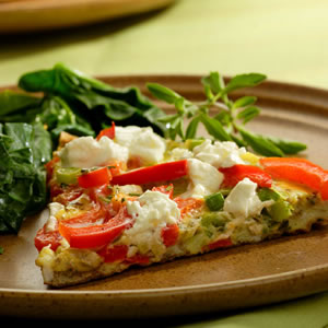 Red Pepper & Goat Cheese Frittata