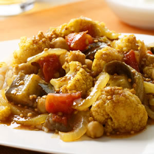 Indian-Spiced Eggplant & Cauliflower Stew