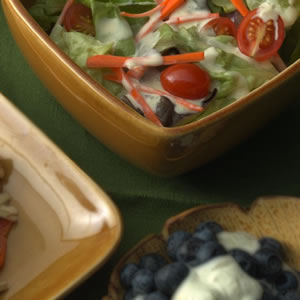 Salad of Boston Lettuce with Creamy Orange-Shallot Dressing