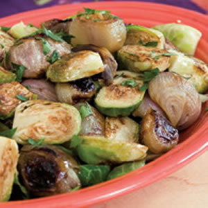 Roasted Brussels Sprouts & Shallots