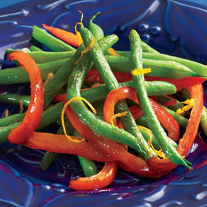 Orange-Infused Roasted Green Beans & Red Peppers