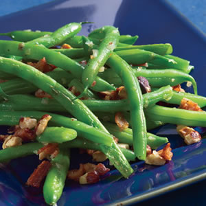 Green Beans with Bacon & Hazelnuts