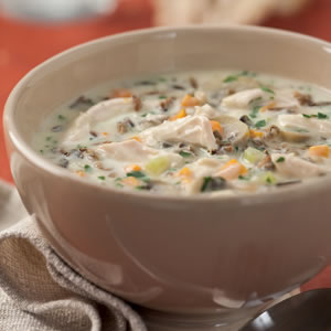 If you're baking chicken for dinner and you're pressed for time, make your task easier by creating a sauce of Campbell's cream of mushroom soup plus four simple ingredients.
