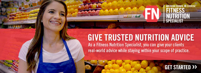 GIVE TRUSTED NUTRITION ADVICE. As a Fitness Nutrition Specialist, you can give your clients real-world advice while staying within your scope of practice.