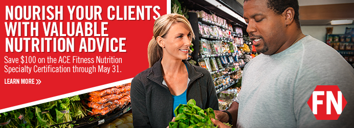 SAVE $100 - Fitness Nutrition Specialty Certification