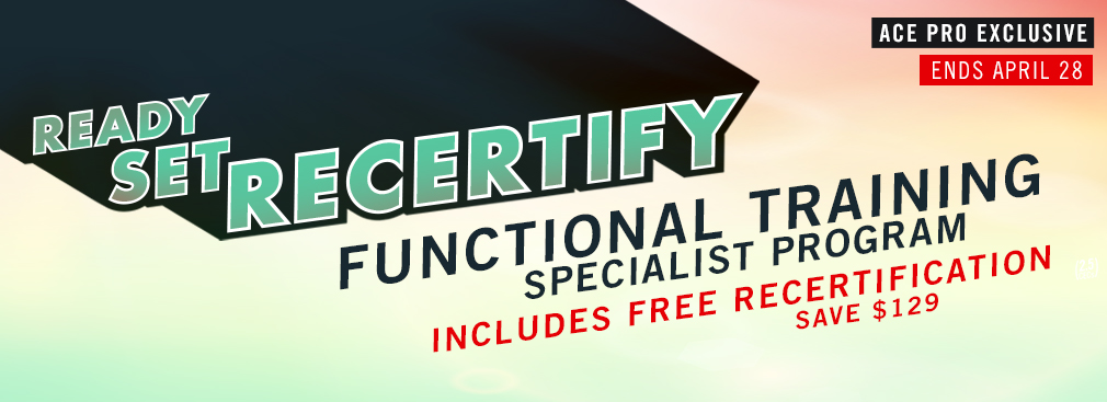 ACE Pro Exclusive - FREE Recertification