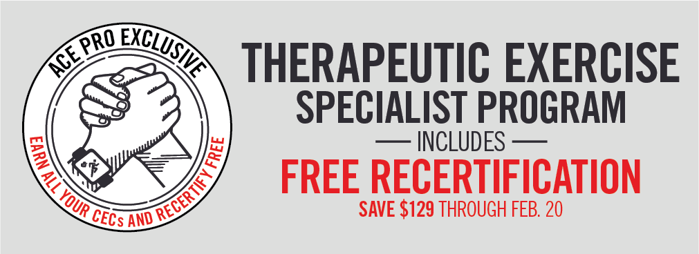 FREE Recertification with Specialist Program