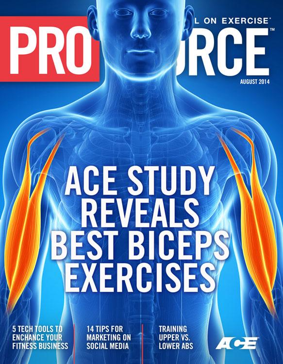 ACE - ProSource™: August 2014 - ACE Study Reveals Best Biceps ...